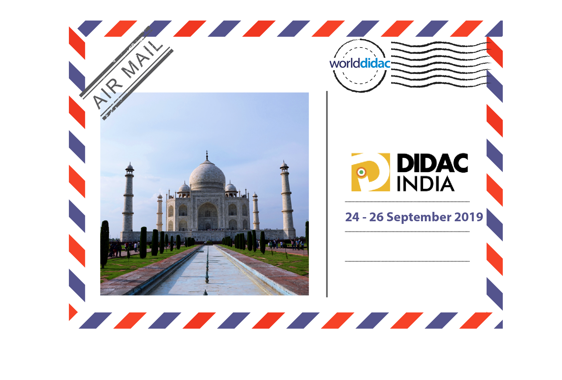 Air Mail Didac India - Logo and Picture of Taj Mahal