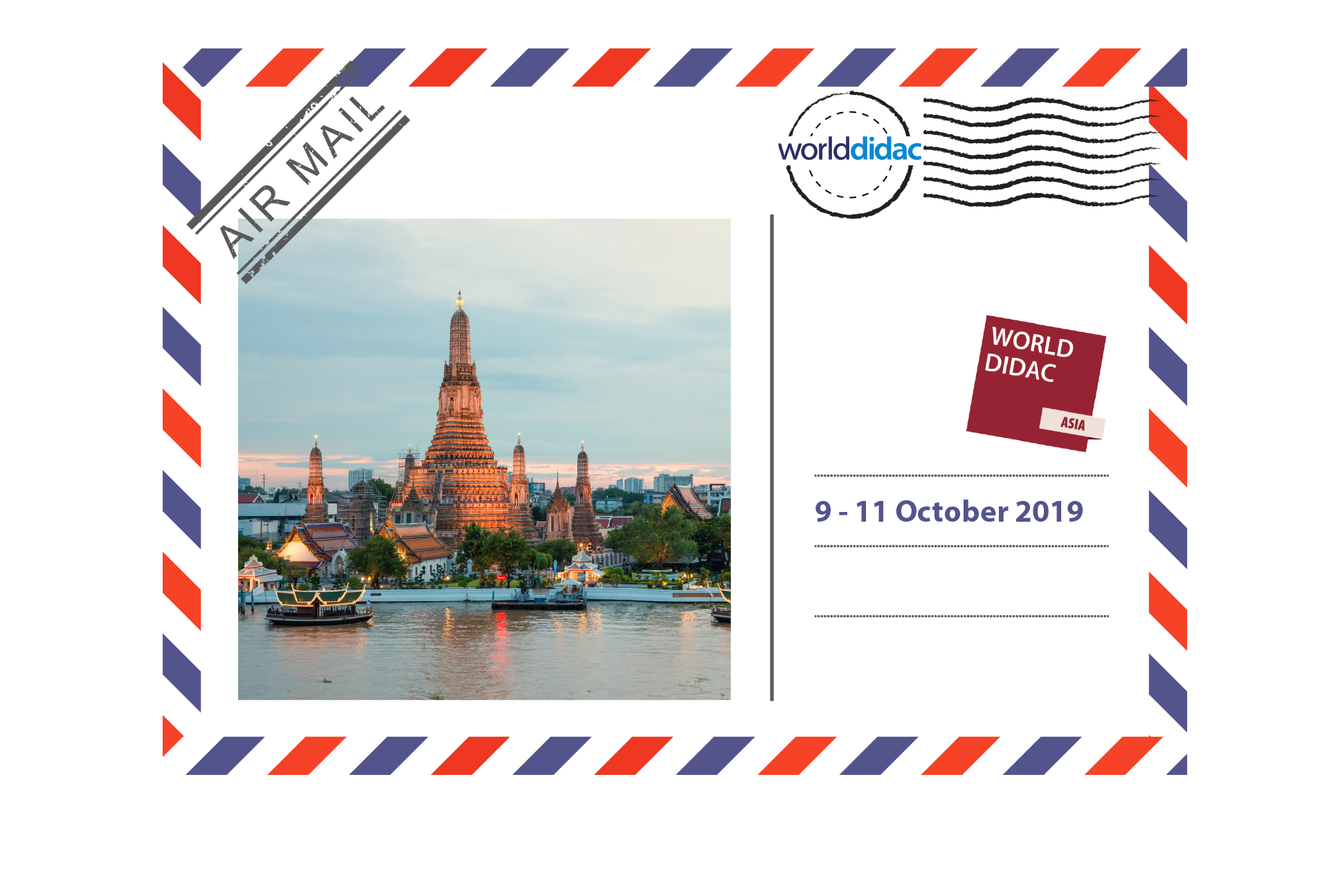 Air Mail Worlddidac Asia - Logo and Picture of Wat Arun